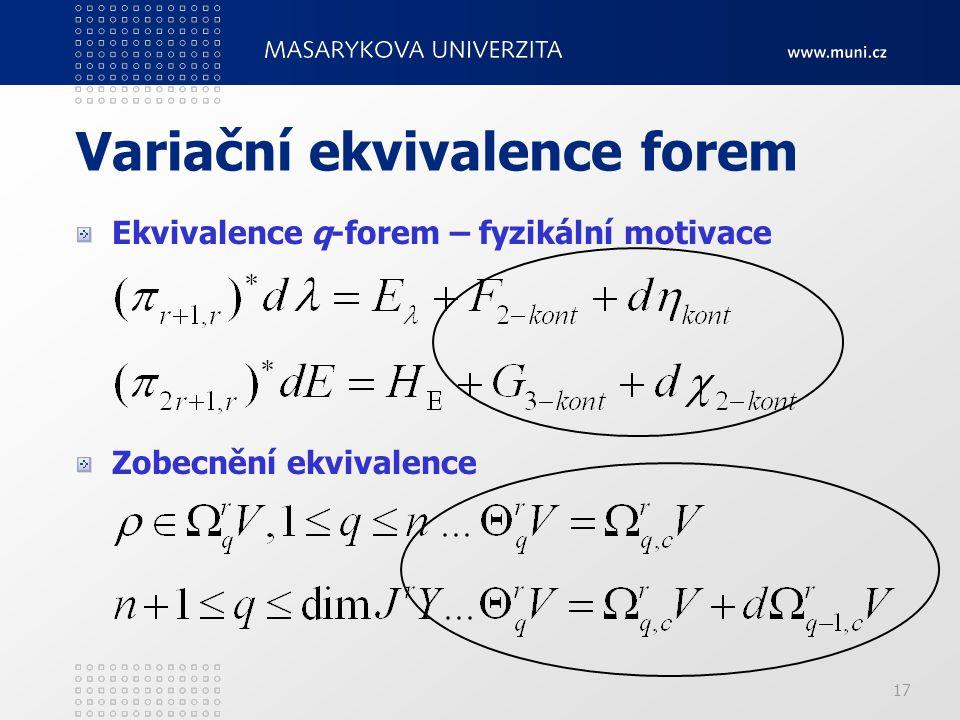 Variační ekvivalence forem