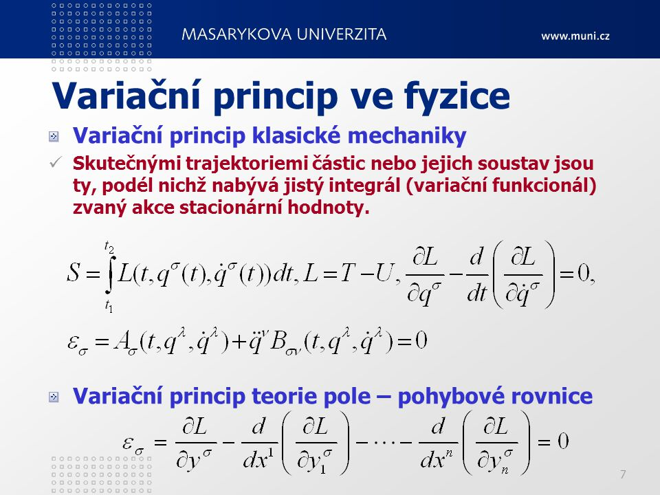 Variační princip ve fyzice