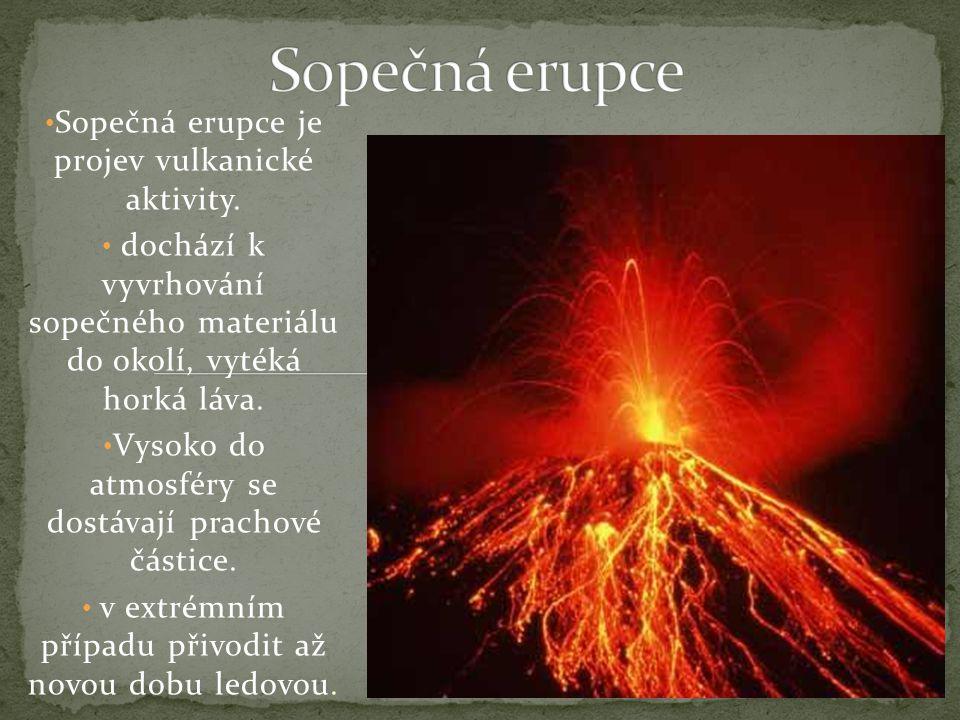 Sopečná erupce Sopečná erupce je projev vulkanické aktivity.