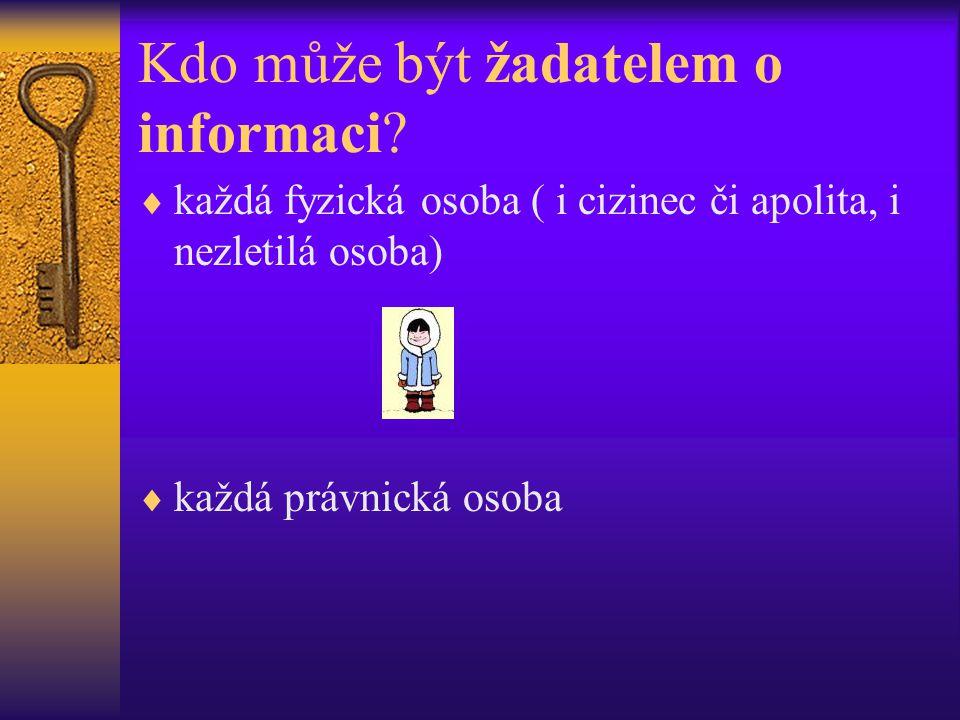 Kdo může být žadatelem o informaci