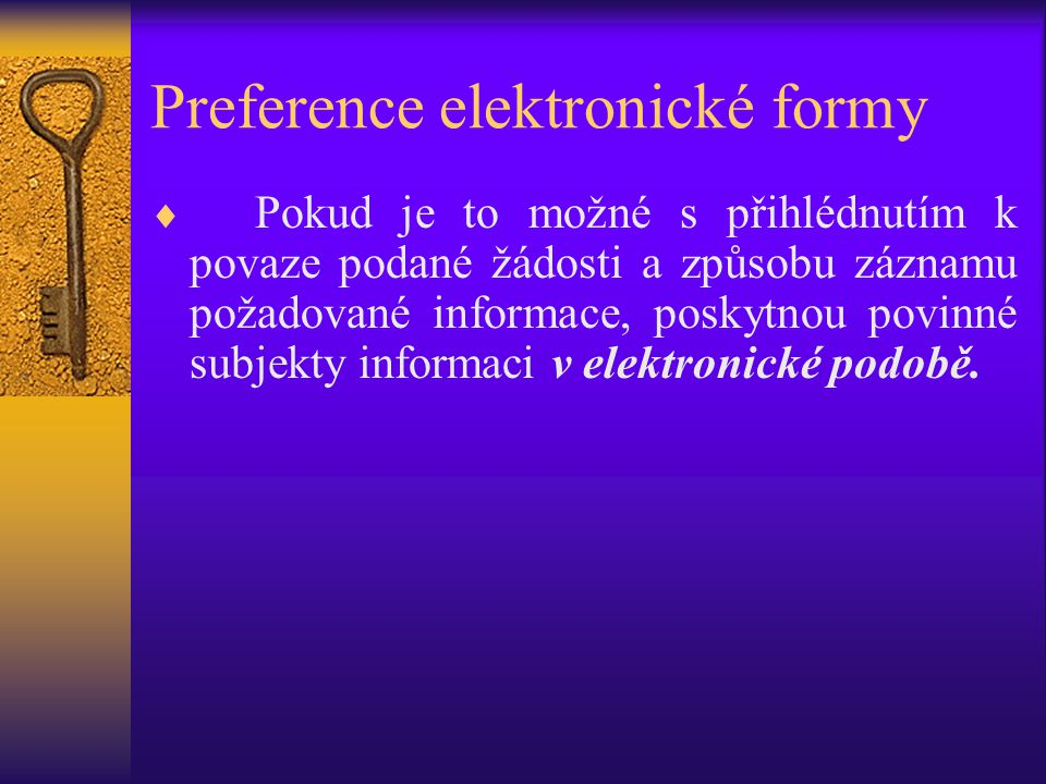 Preference elektronické formy