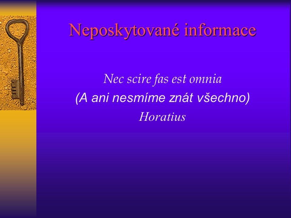 Neposkytované informace