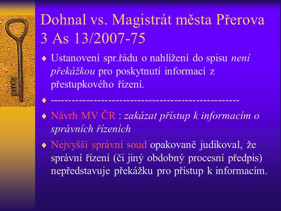 Dohnal vs. Magistrát města Přerova 3 As 13/2007-75
