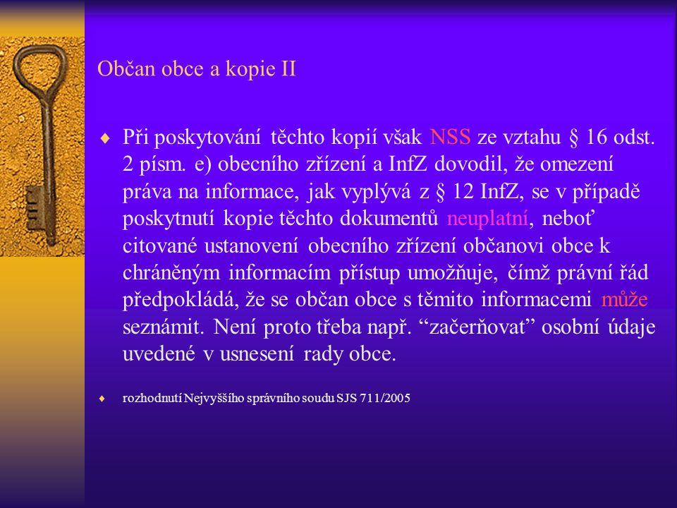 Občan obce a kopie II