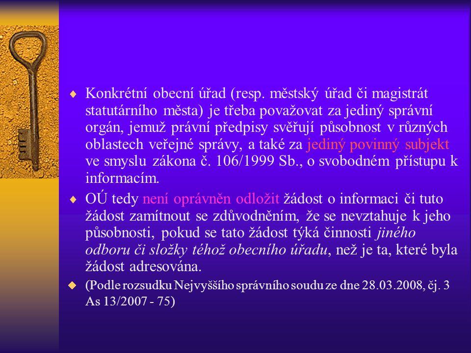 Konkrétní obecní úřad (resp