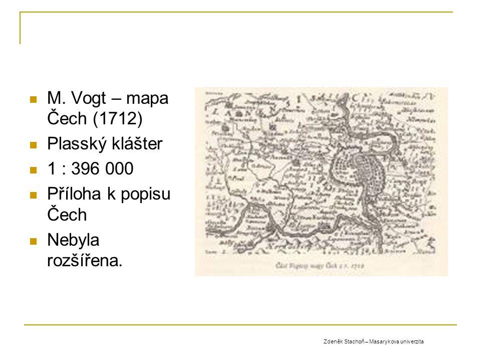 M. Vogt – mapa Čech (1712) Plasský klášter 1 : 396 000