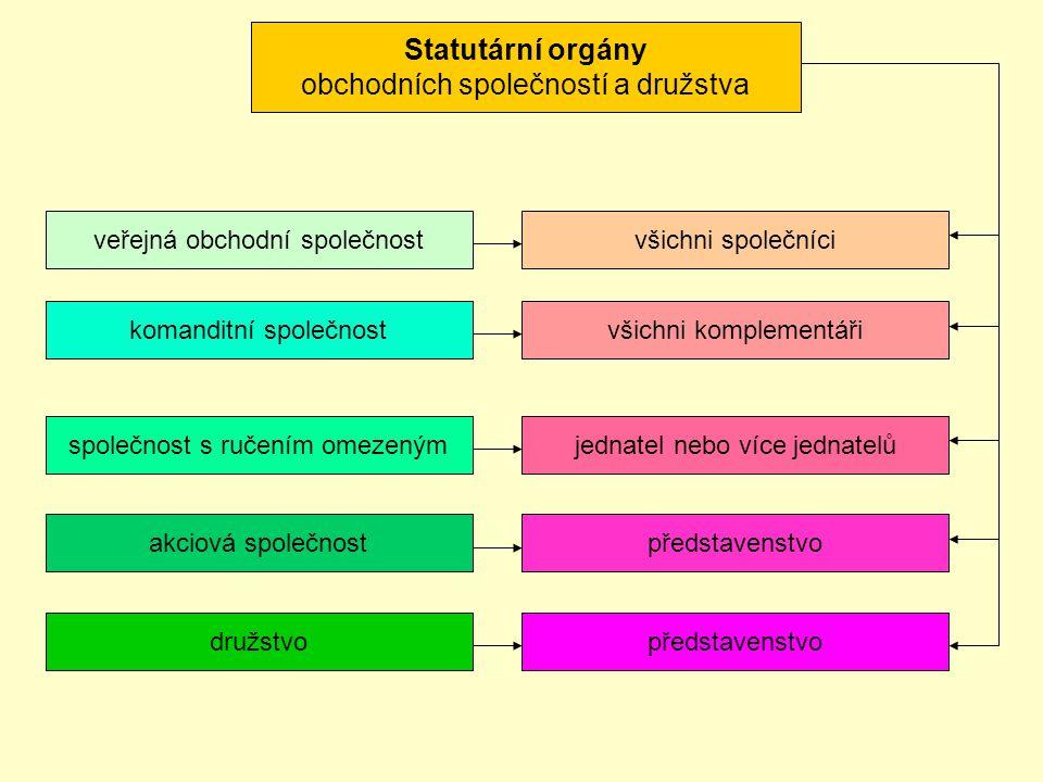 Statutární orgány obchodních společností a družstva
