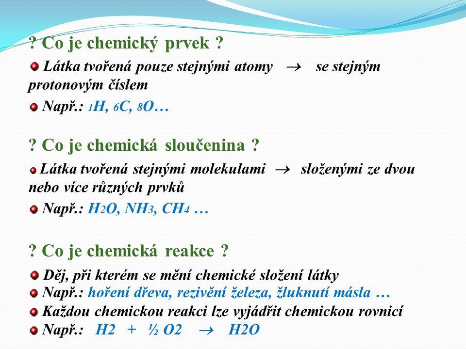 Co je chemická sloučenina