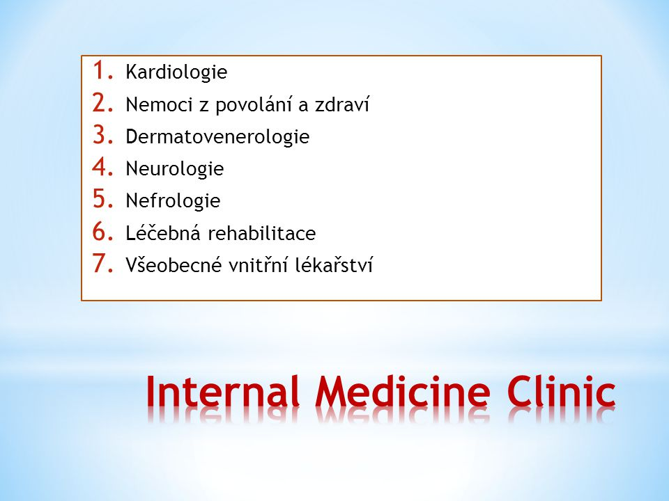 Internal Medicine Clinic