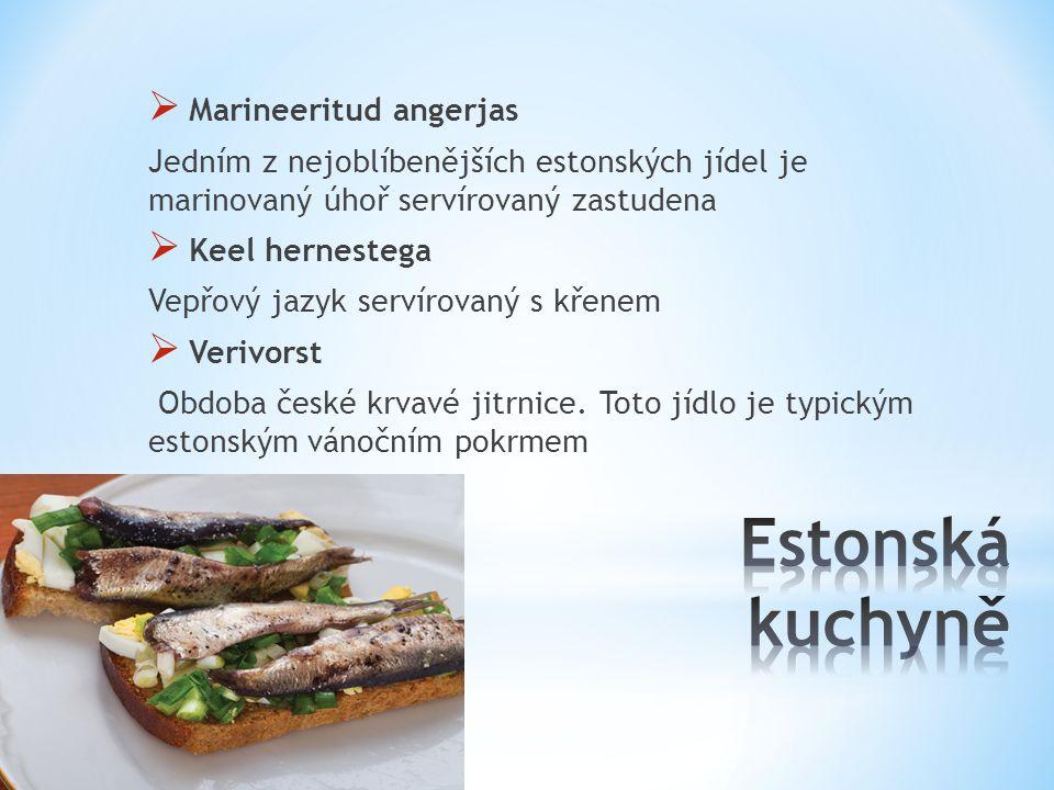 Estonská kuchyně Marineeritud angerjas