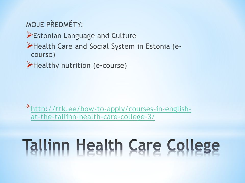 Tallinn Health Care College