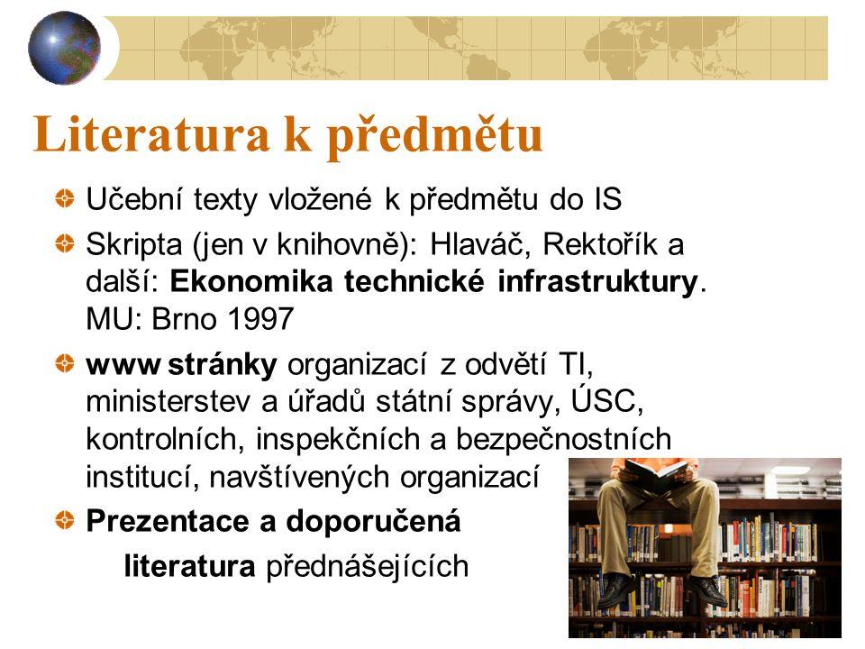 Literatura k předmětu Učební texty vložené k předmětu do IS