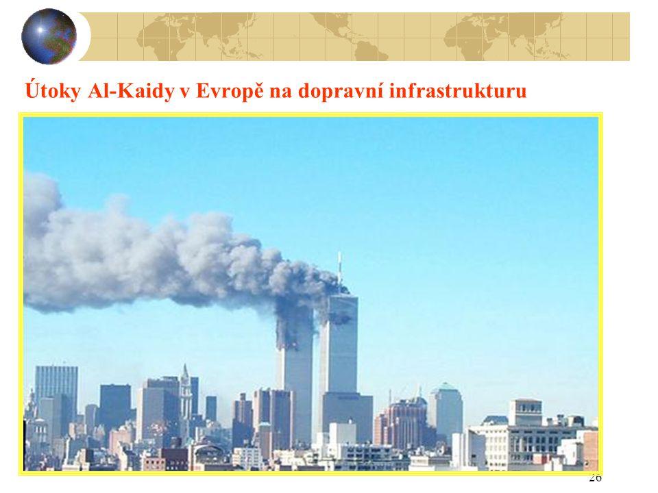 Útoky Al-Kaidy v Evropě na dopravní infrastrukturu