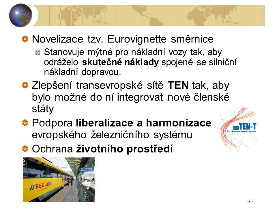 Novelizace tzv. Eurovignette směrnice