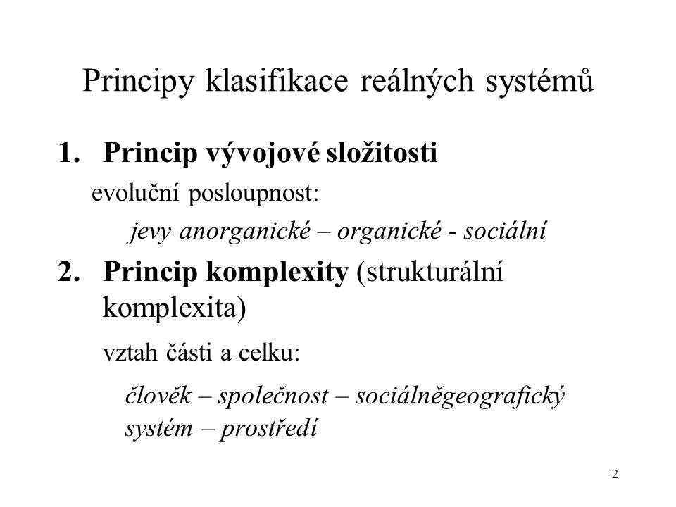 Principy klasifikace reálných systémů