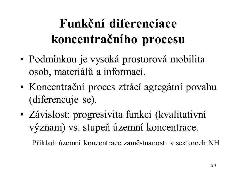 Funkční diferenciace koncentračního procesu
