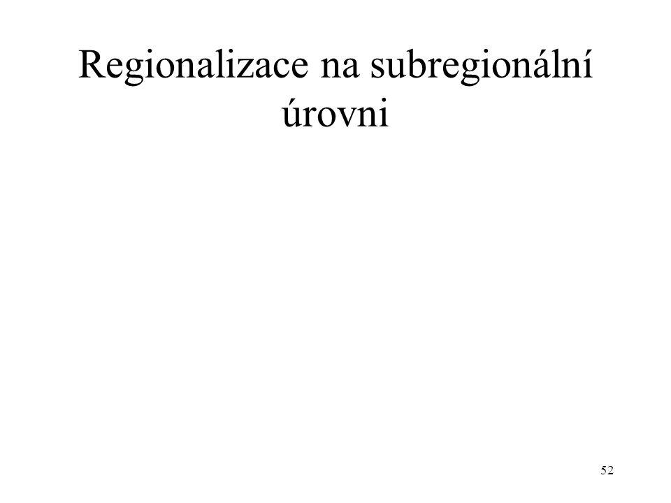 Regionalizace na subregionální úrovni