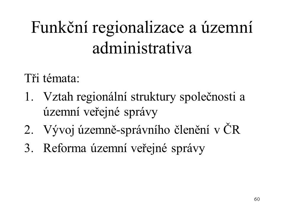 Funkční regionalizace a územní administrativa