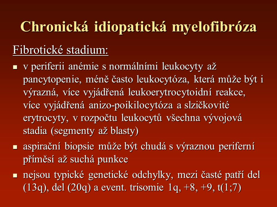 Chronická idiopatická myelofibróza