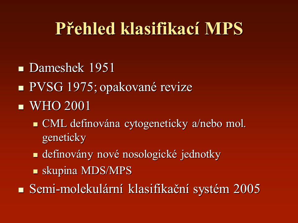 Přehled klasifikací MPS