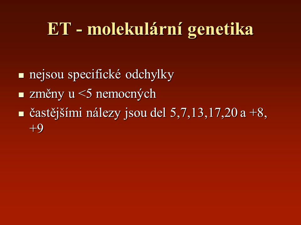 ET - molekulární genetika