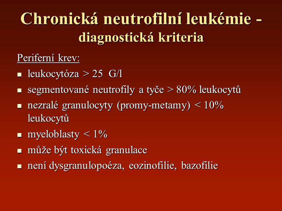 Chronická neutrofilní leukémie - diagnostická kriteria