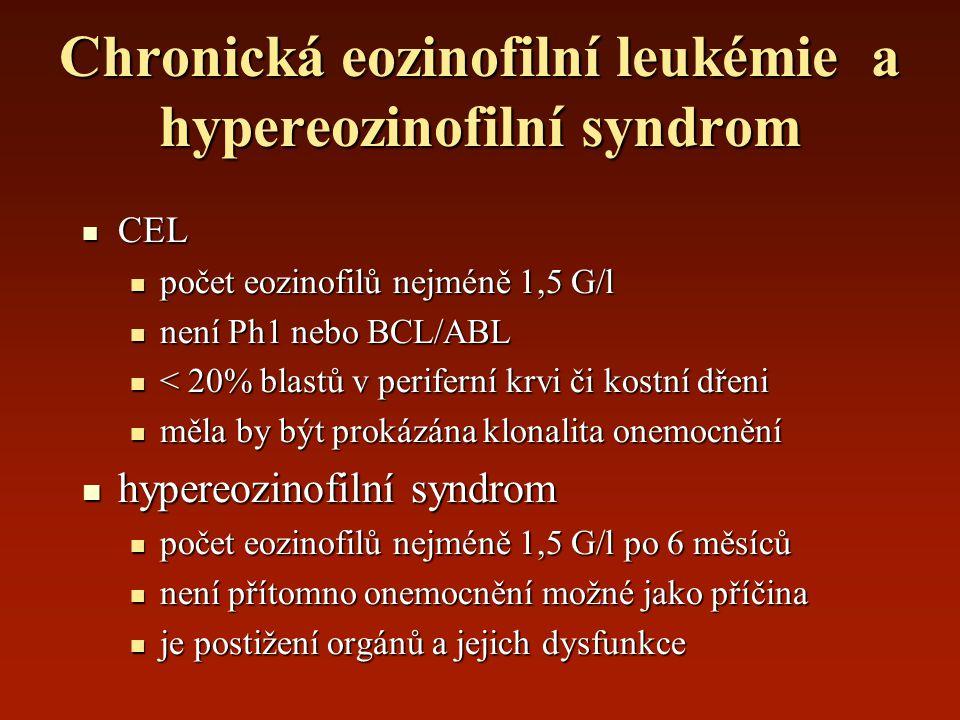 Chronická eozinofilní leukémie a hypereozinofilní syndrom
