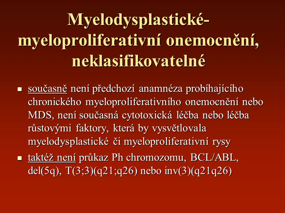 Myelodysplastické-myeloproliferativní onemocnění, neklasifikovatelné