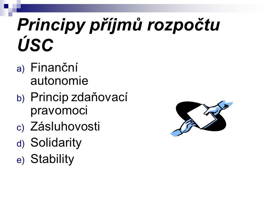 Principy příjmů rozpočtu ÚSC