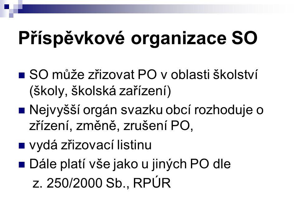 Příspěvkové organizace SO