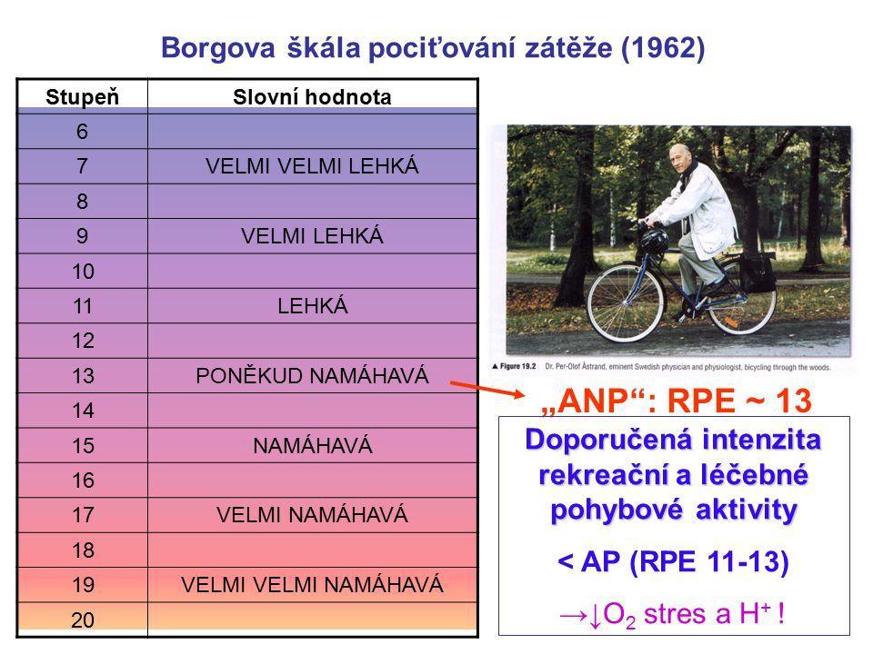 """""""ANP : RPE ~ 13 Borgova škála pociťování zátěže (1962)"""