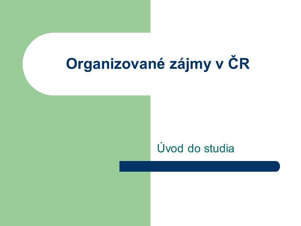 Organizované zájmy v ČR