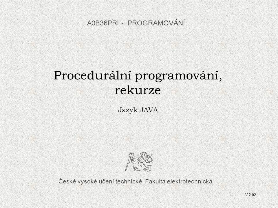 Procedurální programování,