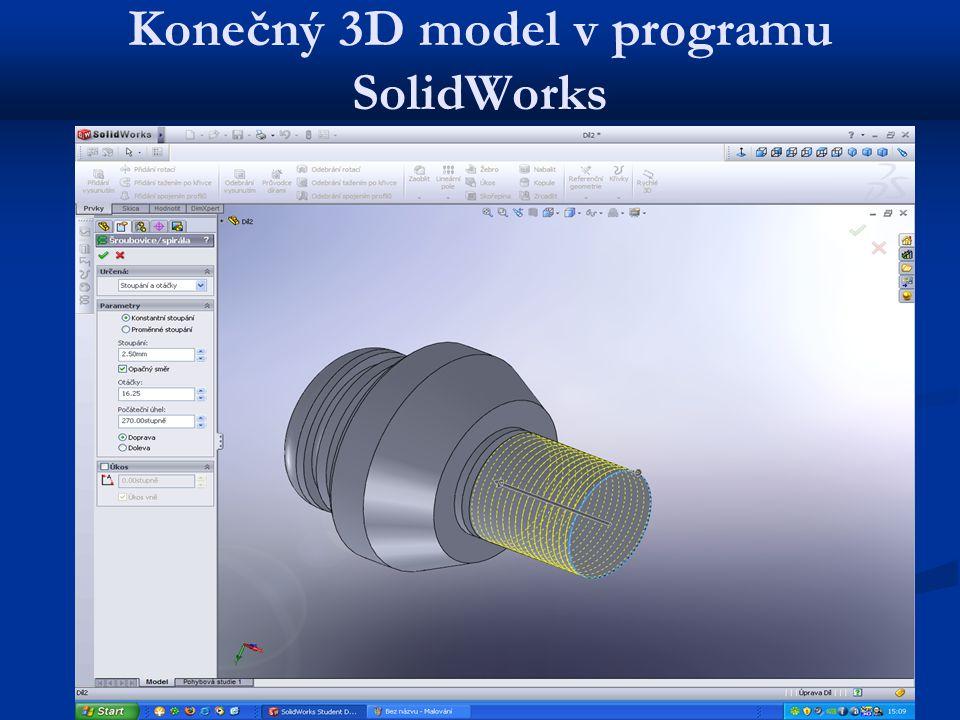 Konečný 3D model v programu SolidWorks