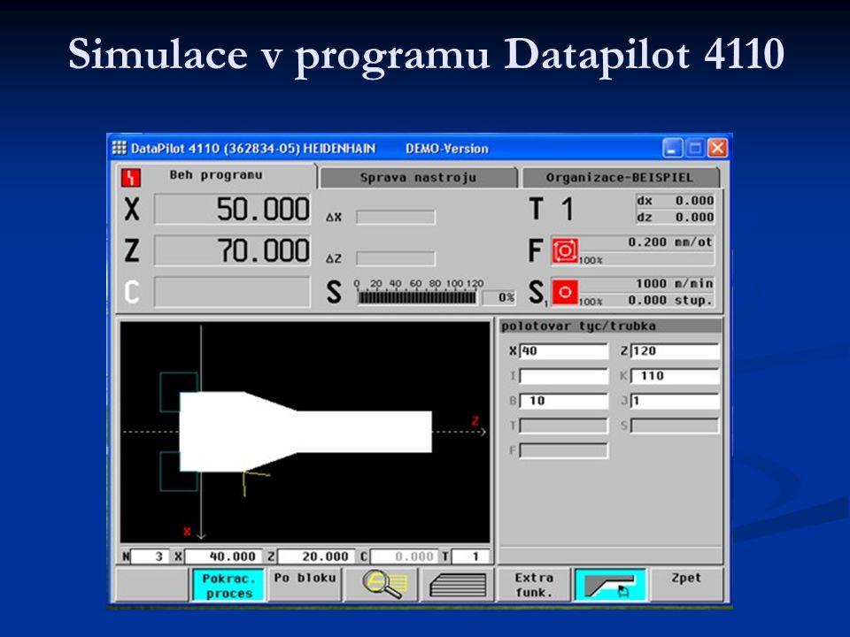 Simulace v programu Datapilot 4110