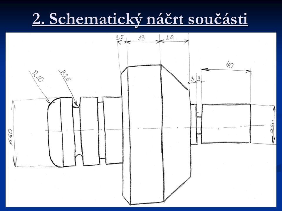2. Schematický náčrt součásti