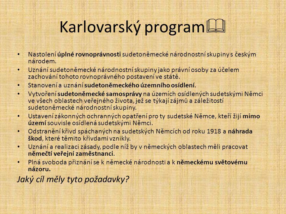 Karlovarský program Jaký cíl měly tyto požadavky