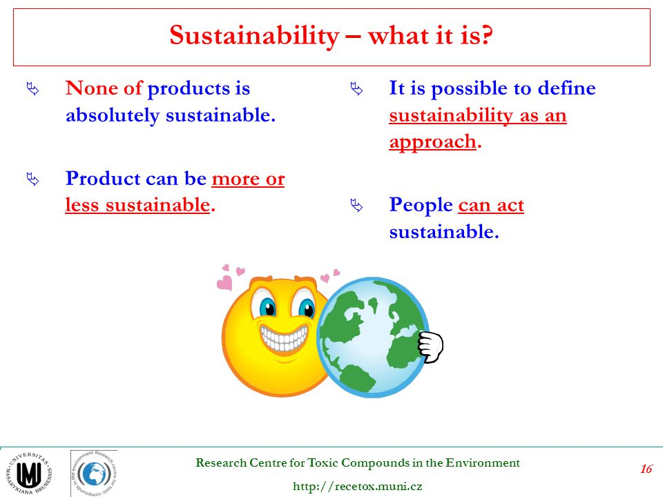 Sustainability – what it is