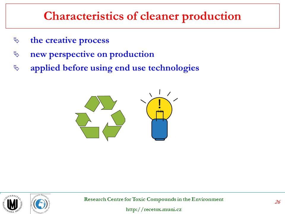 Characteristics of cleaner production