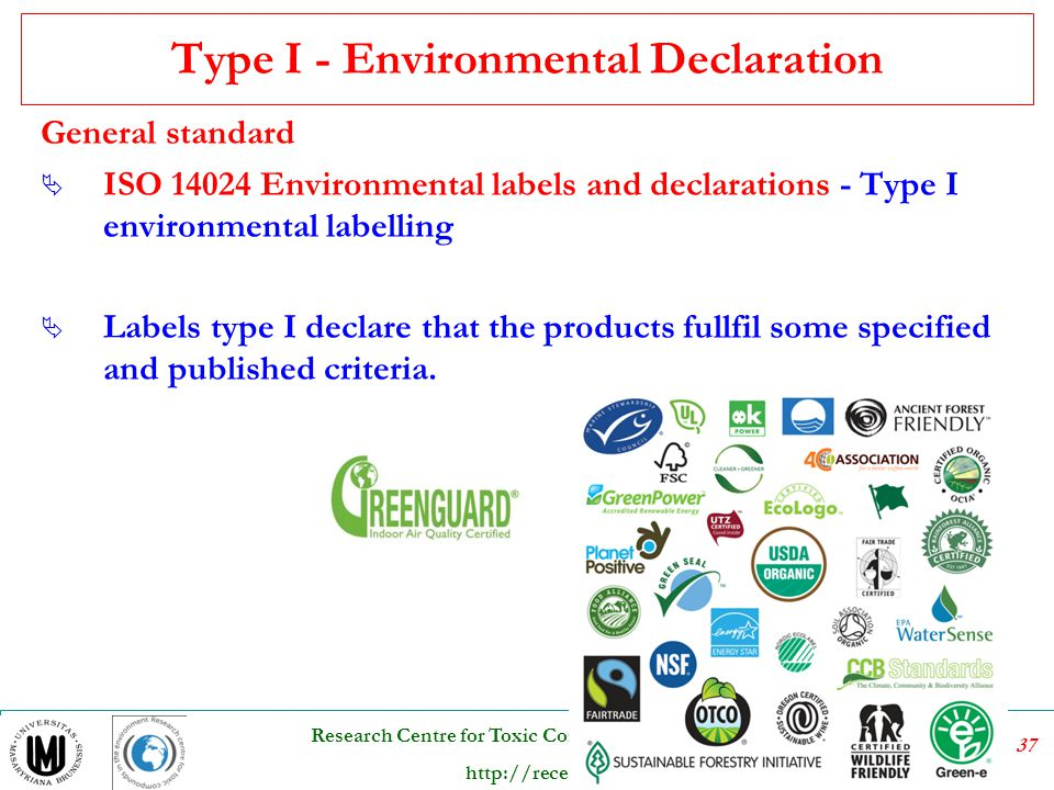 Type I - Environmental Declaration