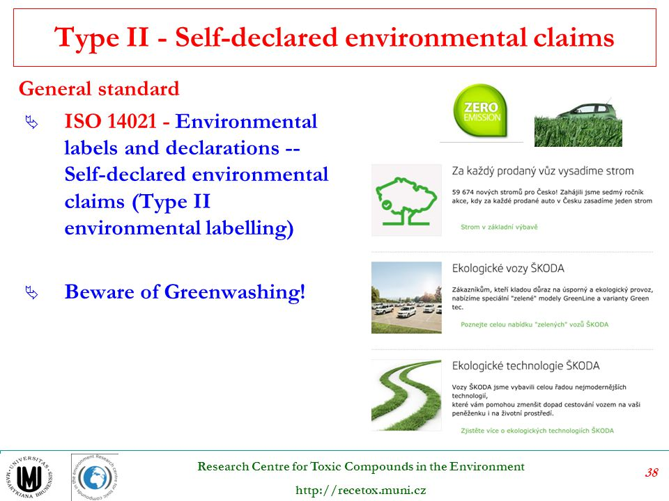 Type II - Self-declared environmental claims