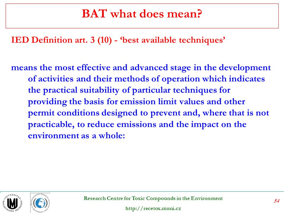 BAT what does mean