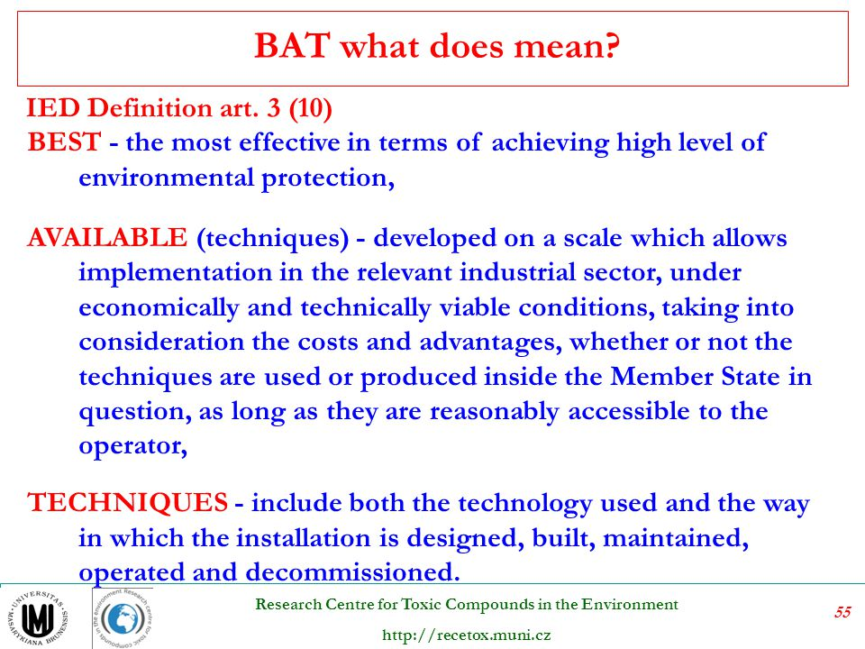 BAT what does mean IED Definition art. 3 (10)