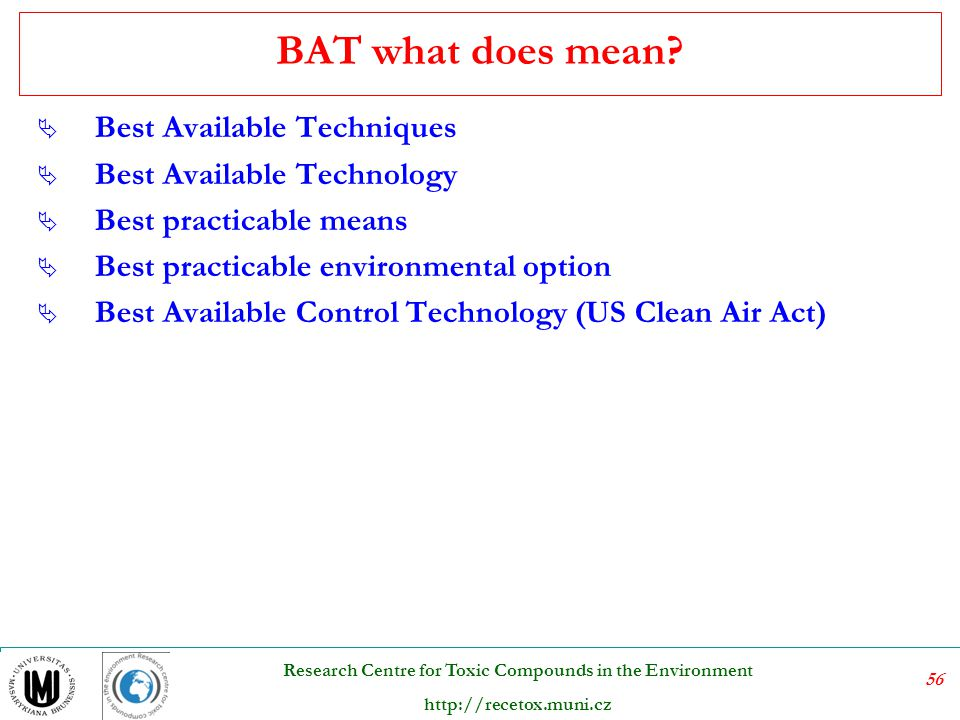 BAT what does mean Best Available Techniques