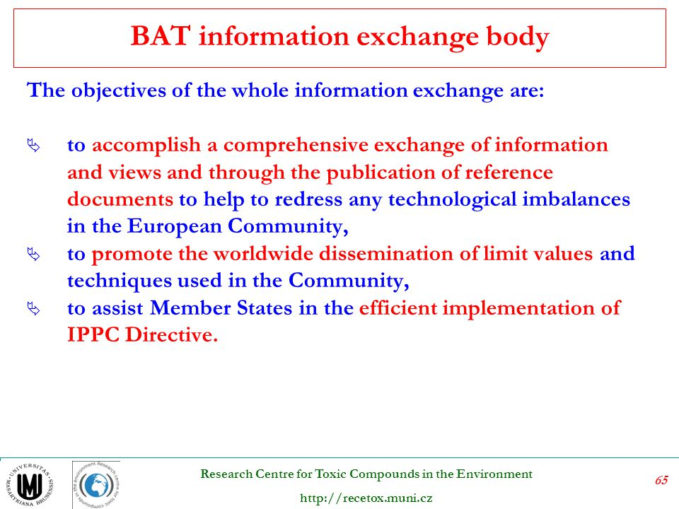 BAT information exchange body