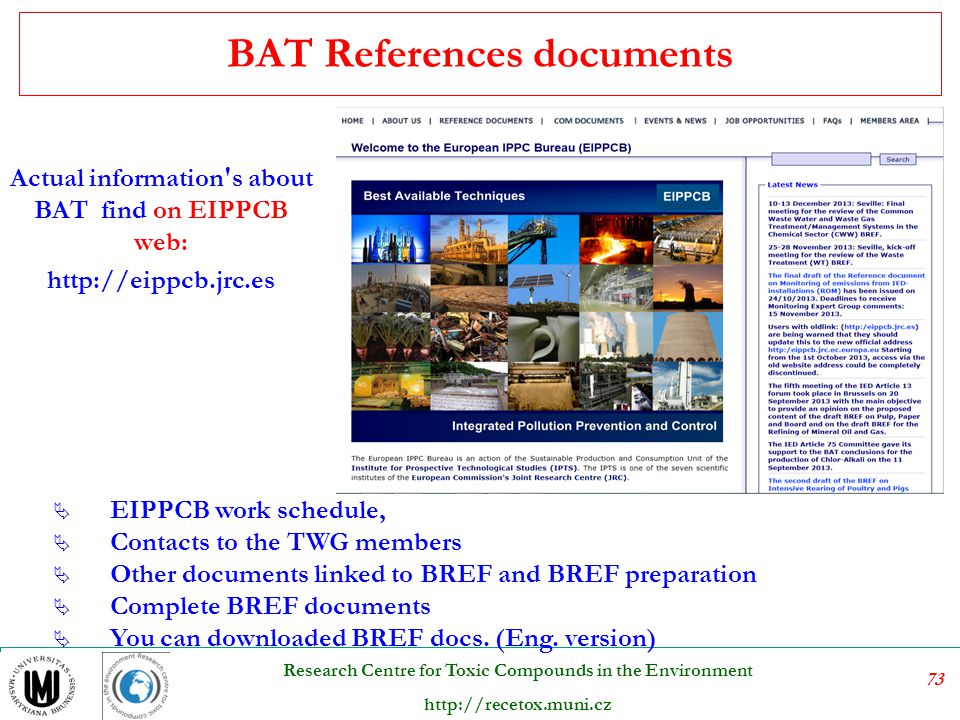BAT References documents