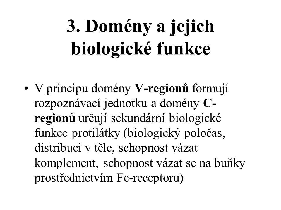 3. Domény a jejich biologické funkce
