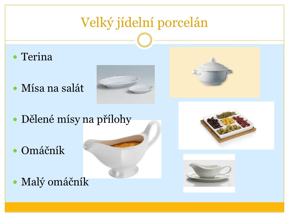 Velký jídelní porcelán