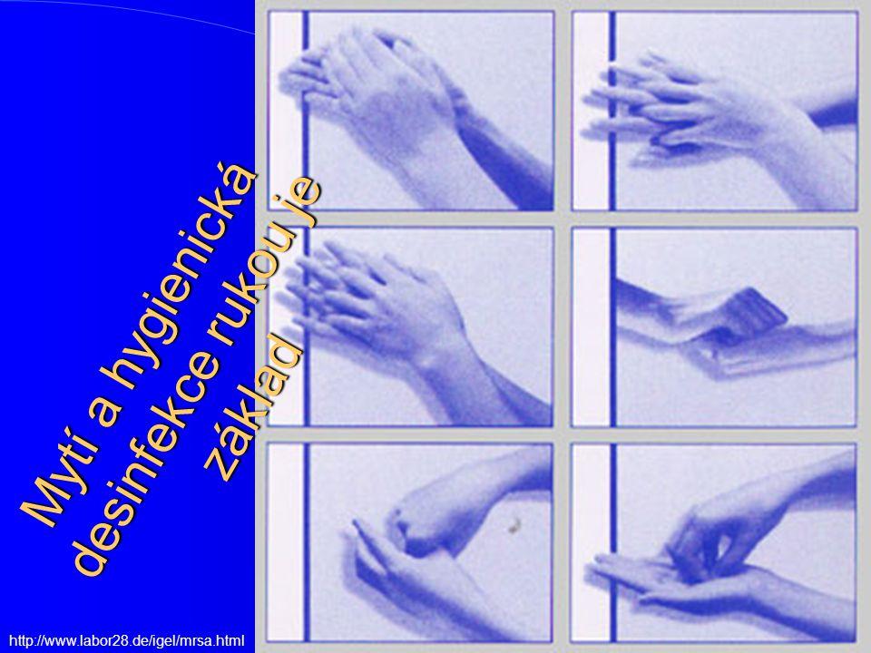 Mytí a hygienická desinfekce rukou je základ