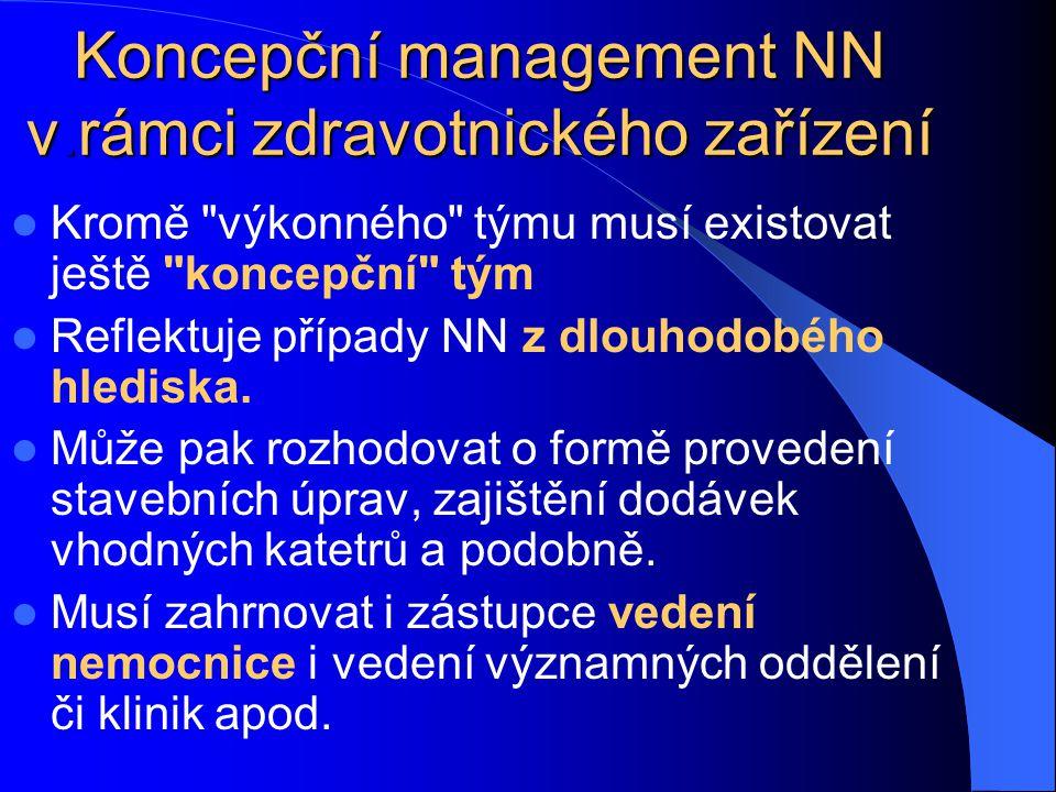 Koncepční management NN v.rámci zdravotnického zařízení
